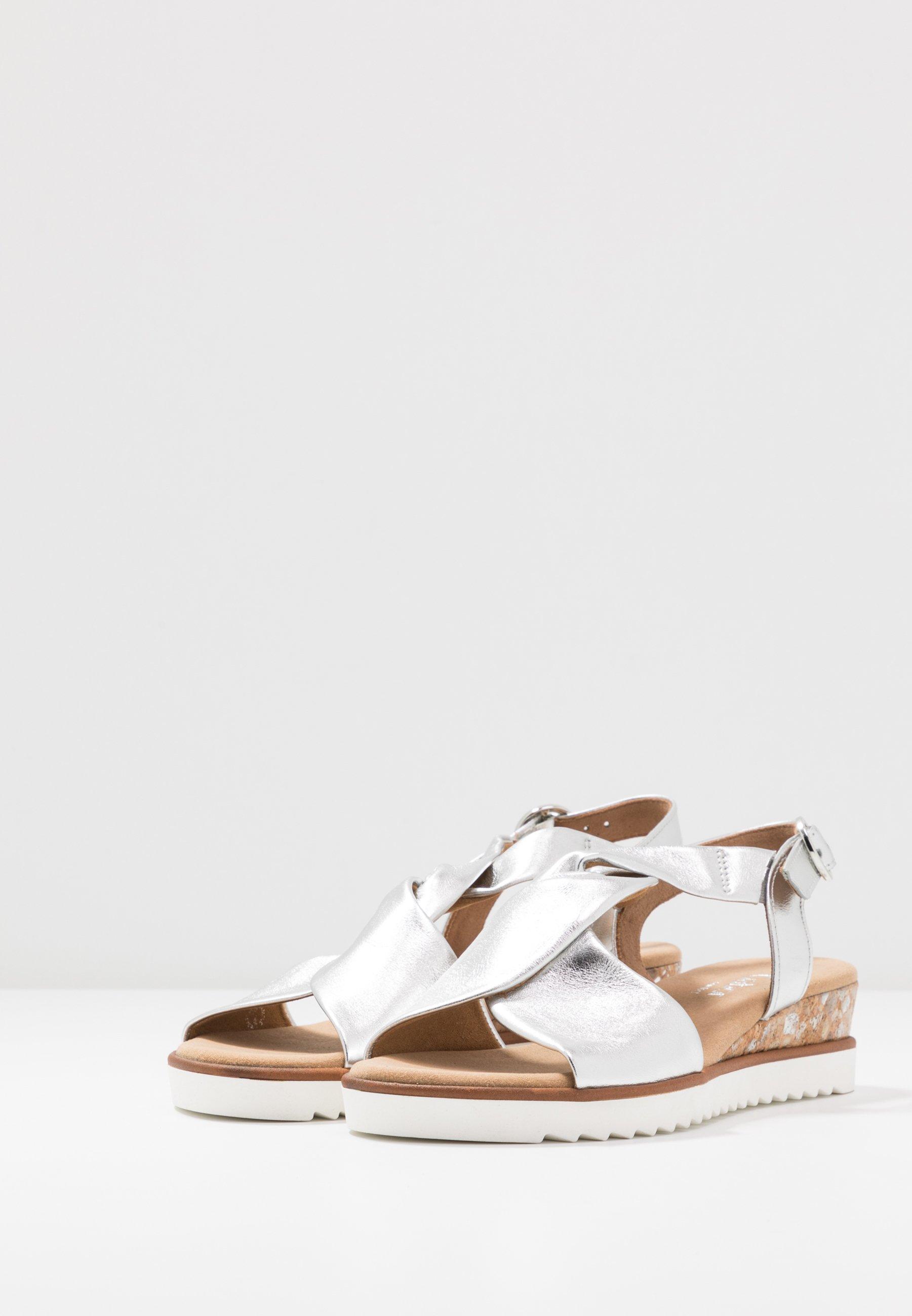 Gabor Comfort Sandaletter med kilklack - silber