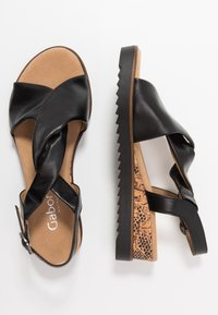Gabor Comfort - Sandalen met sleehak - schwarz - 3