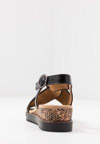Gabor Comfort - Sandalen met sleehak - schwarz - 5