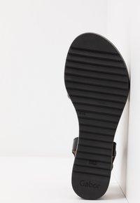 Gabor Comfort - Sandalen met sleehak - schwarz - 6