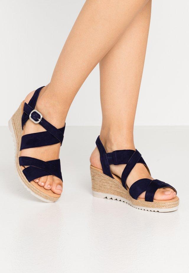 Platform sandals - bluette