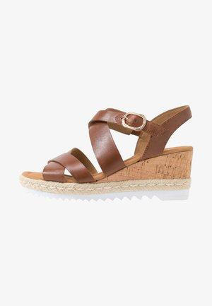 Sandales à plateforme - peanut