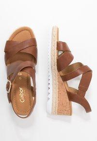 Gabor Comfort - Sandalen met plateauzool - peanut - 3