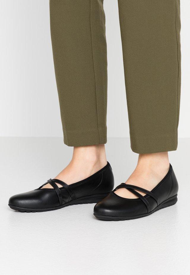 Ankle strap ballet pumps - schwarz