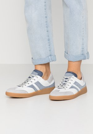 Sneakers laag - weiß/light grey/aqua