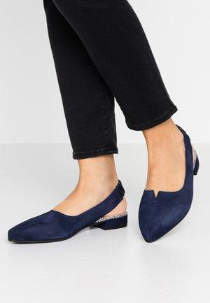 Slingback ballet pumps - bluette