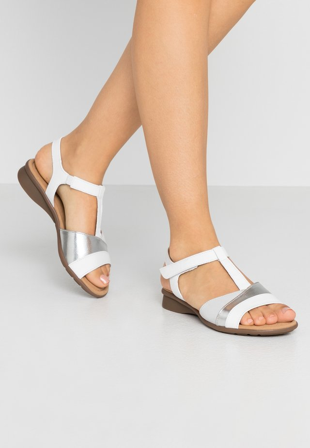 Sandalen - weiß/silber