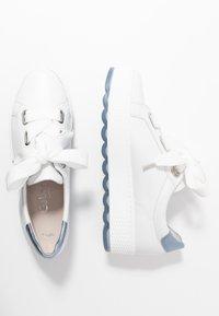 Gabor Comfort - Sneakers laag - weiß/azur - 3