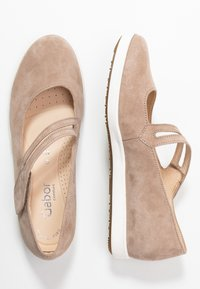 Gabor Comfort - Ankle strap ballet pumps - rabbit - 3