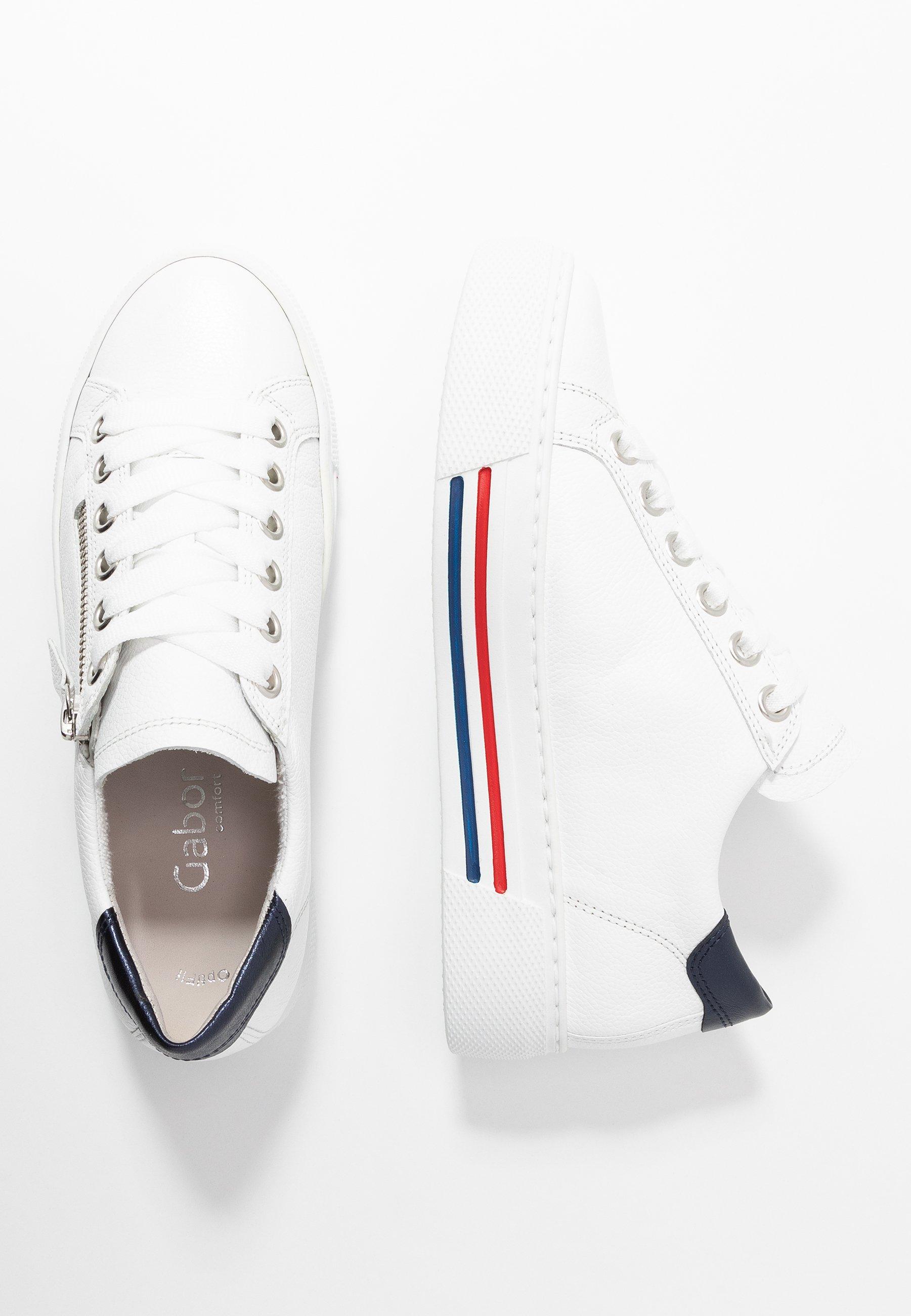 Gabor Comfort Sneakersy niskie - weiß/pazific
