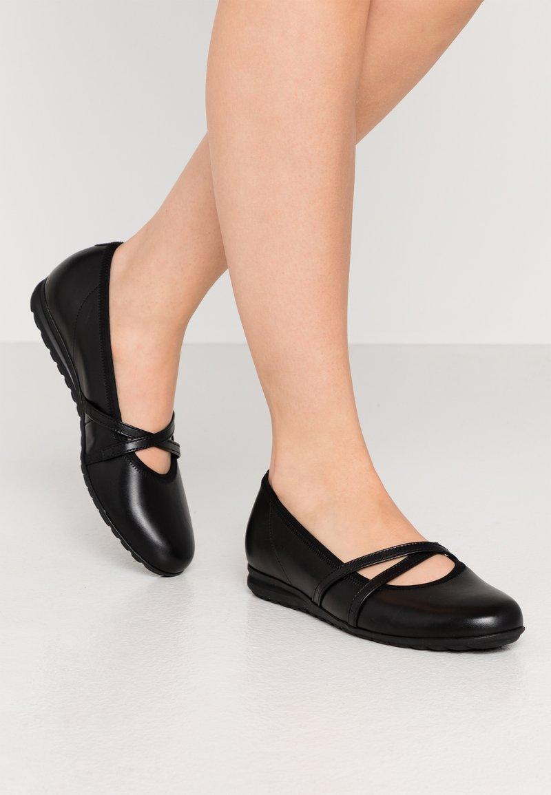 Gabor Comfort - Ballerinasko m/ rem - schwarz