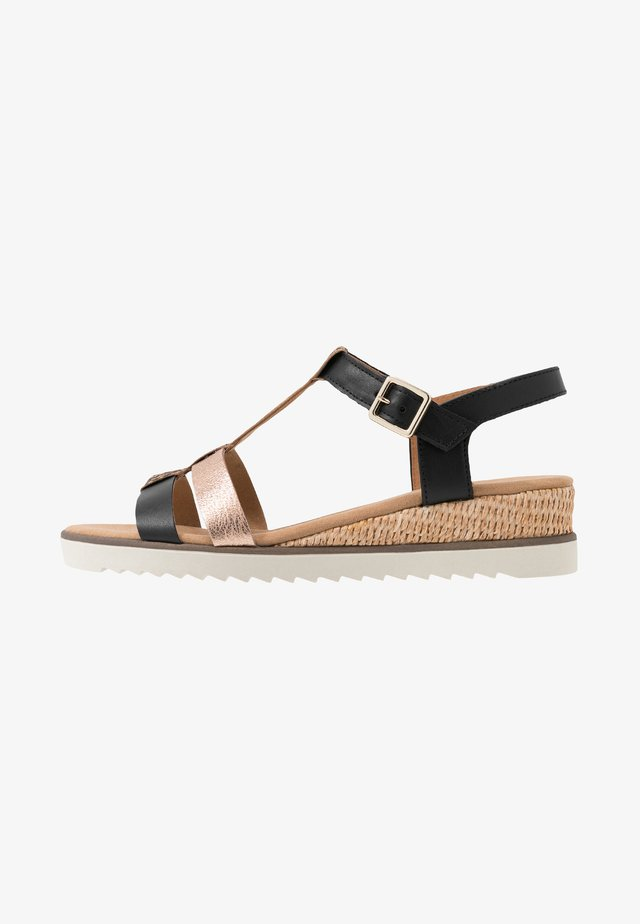 Sandály na klínu - foulard idra/schwarz