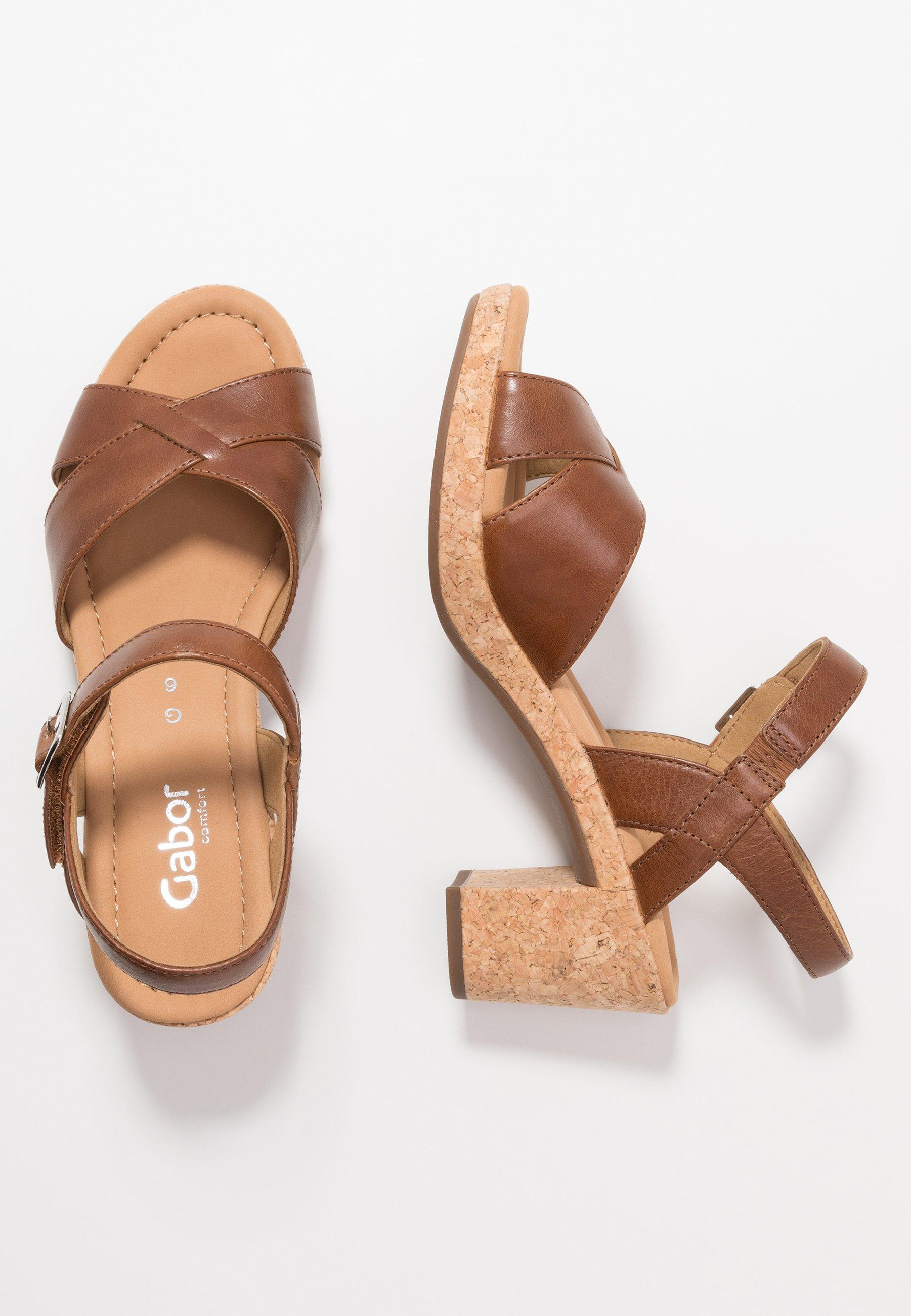 Sandales confort peanut Gabor