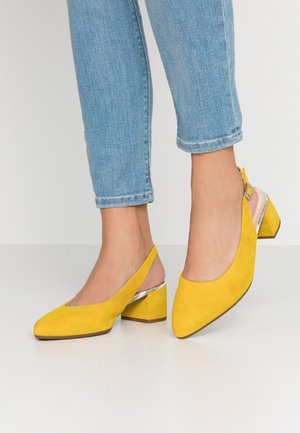 Klassiske pumps - yellow