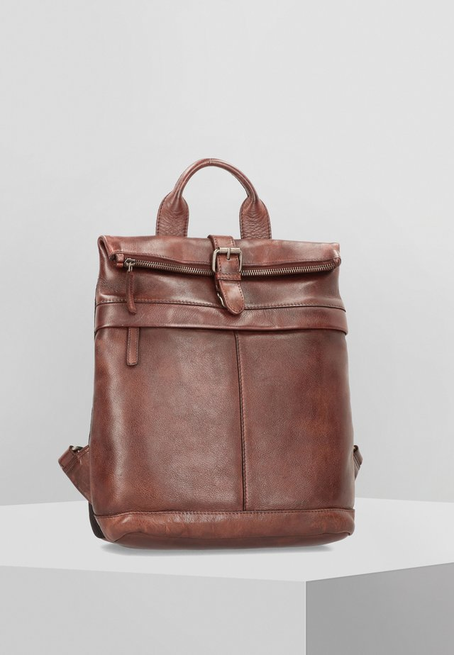 VINTAGE WASHED CITY - Tagesrucksack - coffee