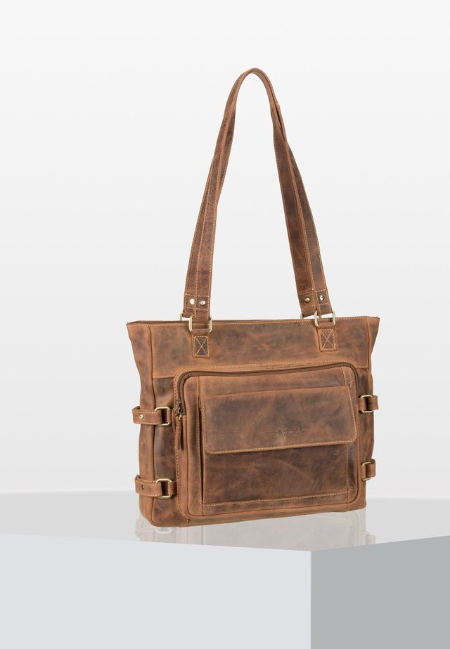 VINTAGE   - Shopping Bag - brown