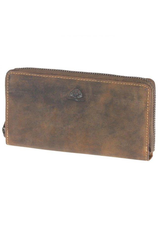 Wallet - saddle brown