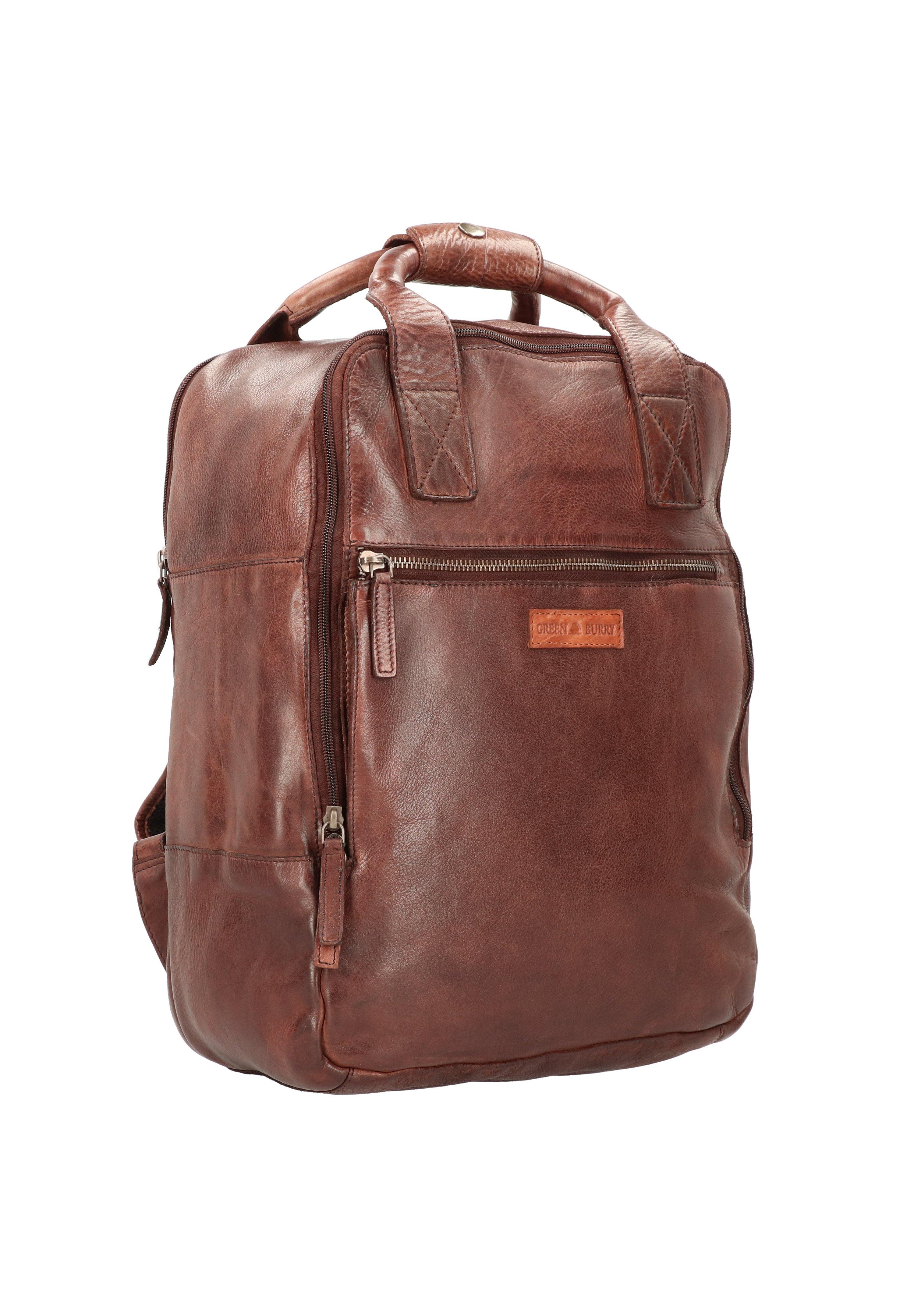 Greenburry Vintage Washed Rucksack Leder 40 Cm Laptopfach - Zaino Coffee YIyTBLq