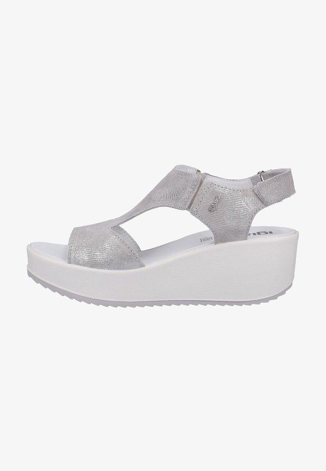 Sandales à plateforme - perla