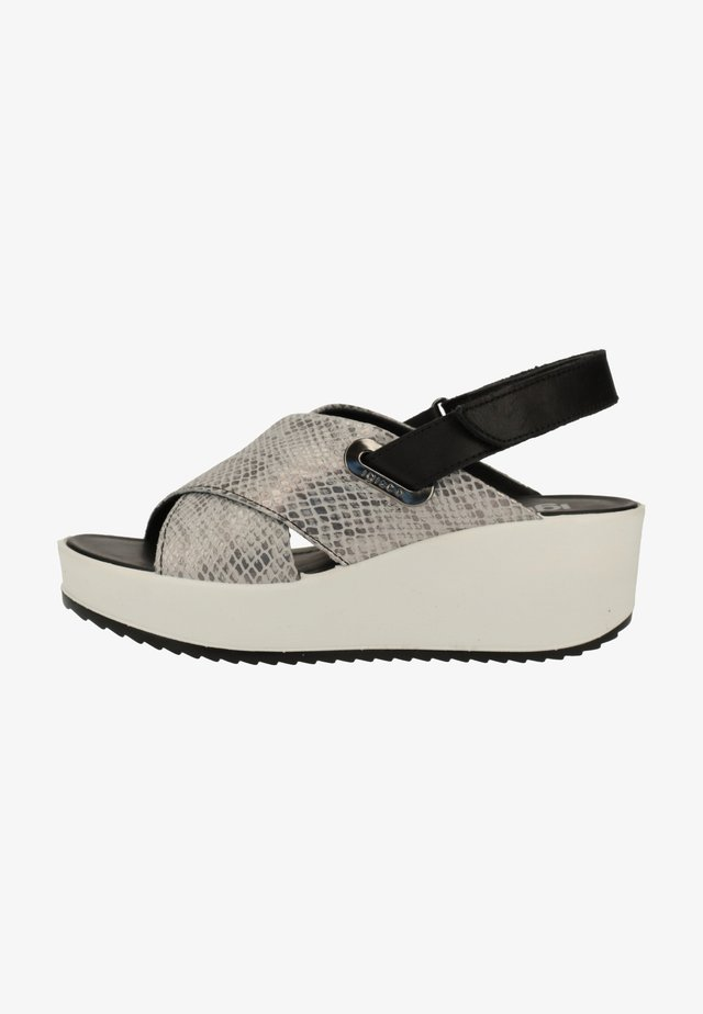 Wedge sandals - grey