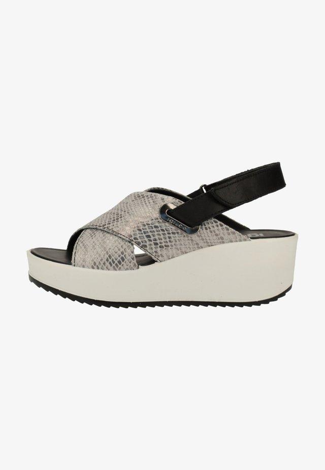 Sandaler m/ kilehæl - grey