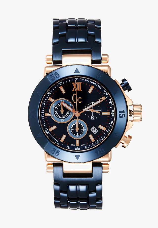 Chronograph watch - blue/gold