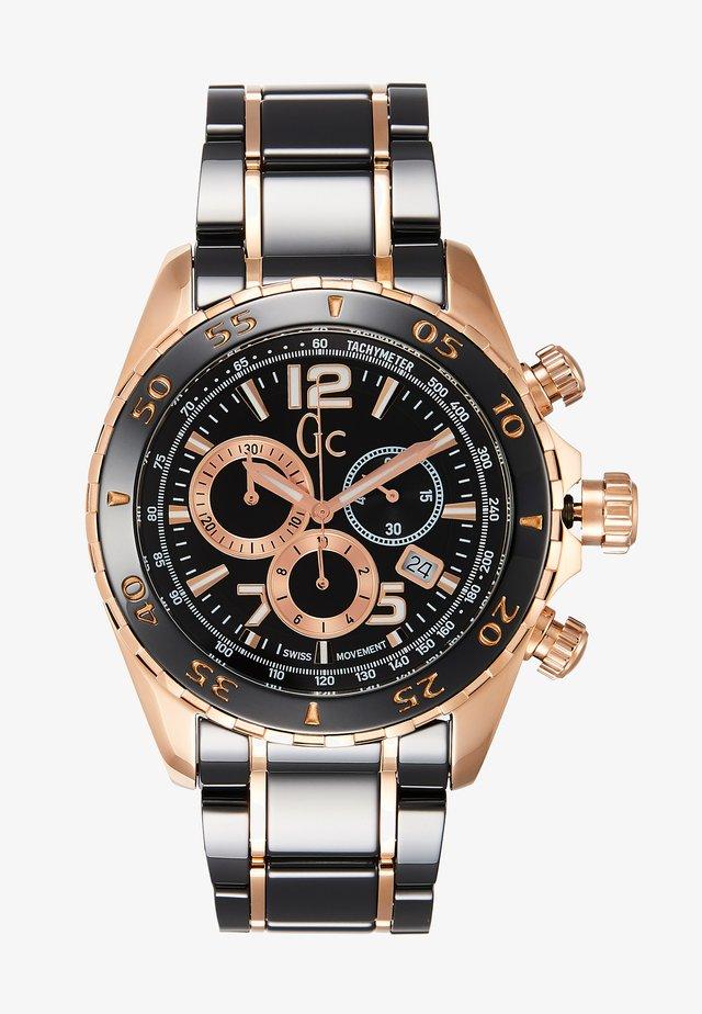 Chronograph watch - black/gold
