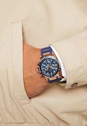 Montre à aiguilles - blue/rose gold-coloured