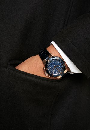 Chronograph watch - blue/gold