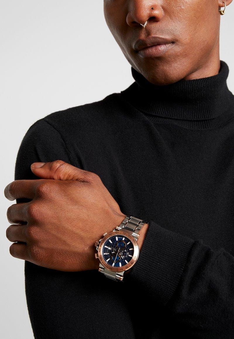 Gc Watches - Hodinky se stopkami - silver-coloured/blue