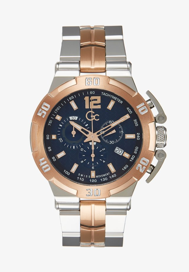 Chronograph watch - silver-coloured/gold-coloured/blue