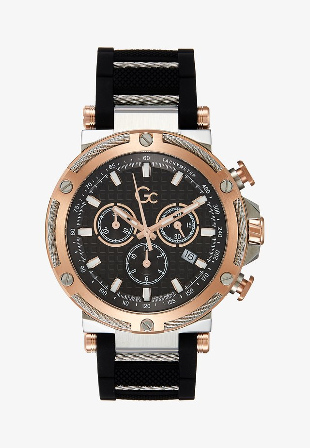 Chronograph watch - black/silver-coloured