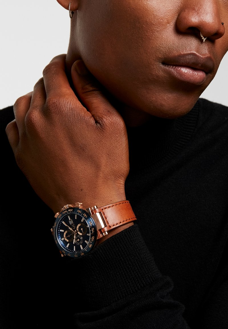 Gc Watches - Chronograph watch - gold/blue/brown