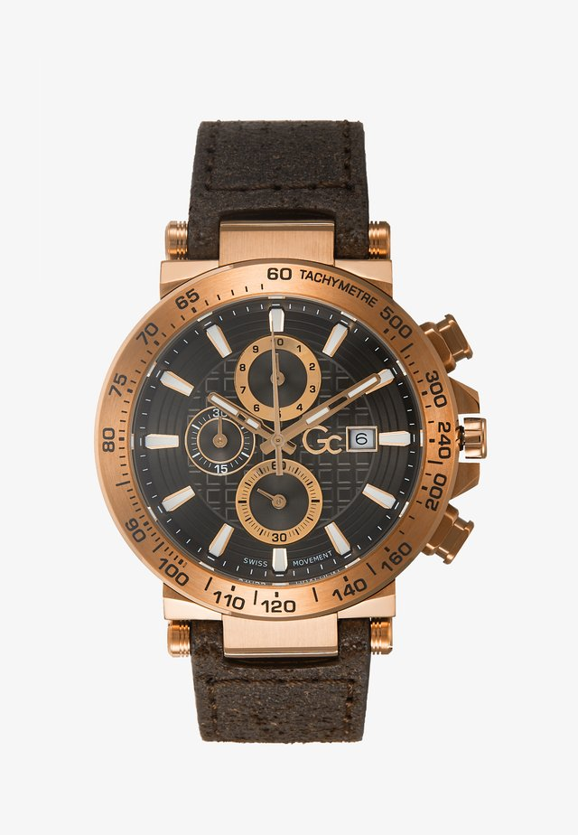 Chronograph watch - gold-coloured/brown