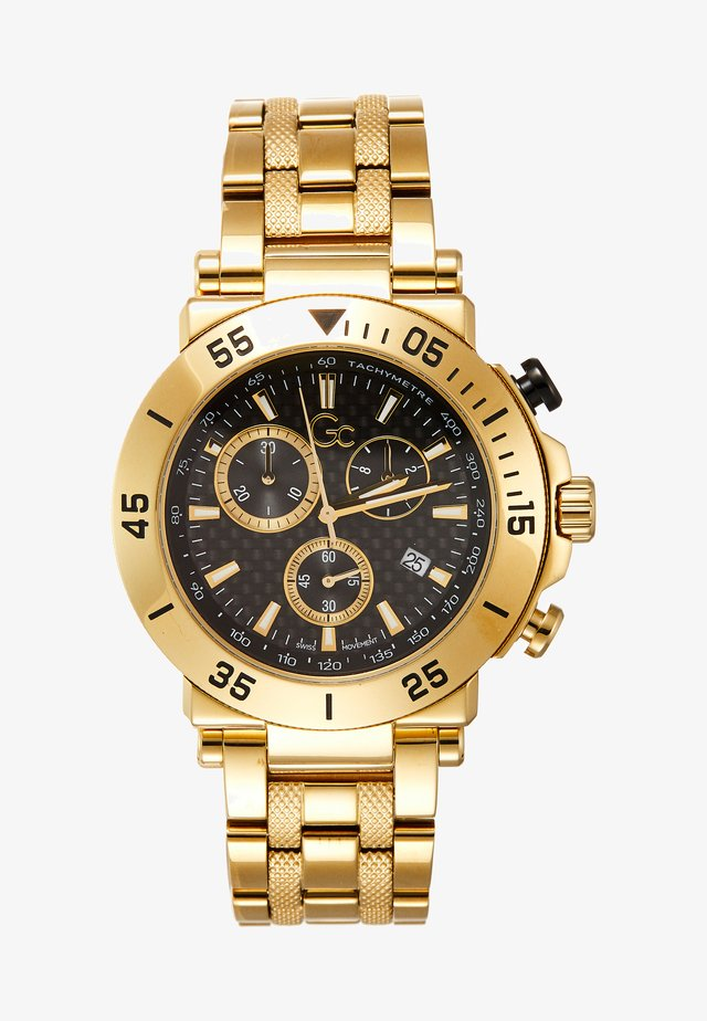 ONE - Chronograph watch - black/gold