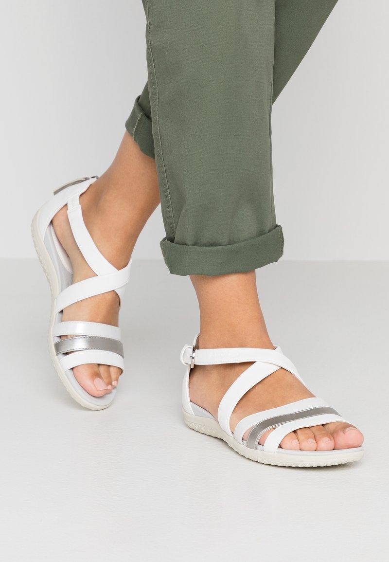 Geox - VEGA - Sandals - optic white/silver