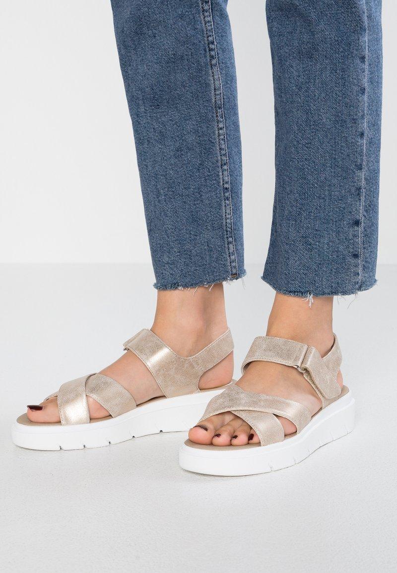 Geox - TAMAS - Platform sandals - taupe
