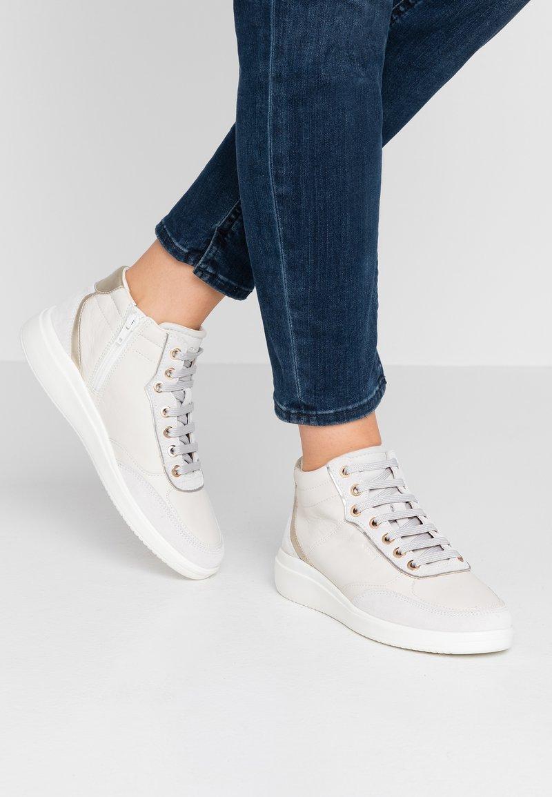 Geox - TAHINA - Sneaker high - dark grey/gun