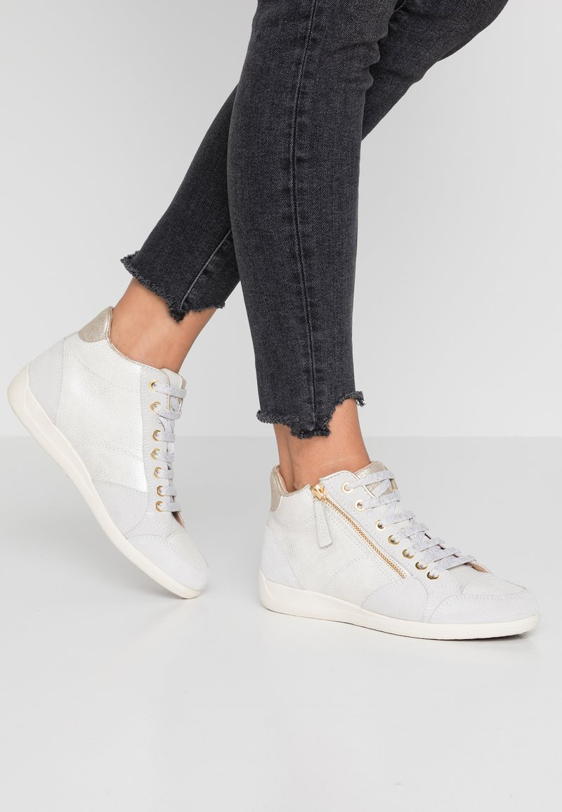 Geox - MYRIA - Sneakers high - champagne/offwhite