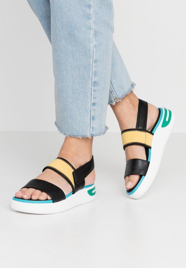 OTTAYA - Sandalias con plataforma - black/turquoise