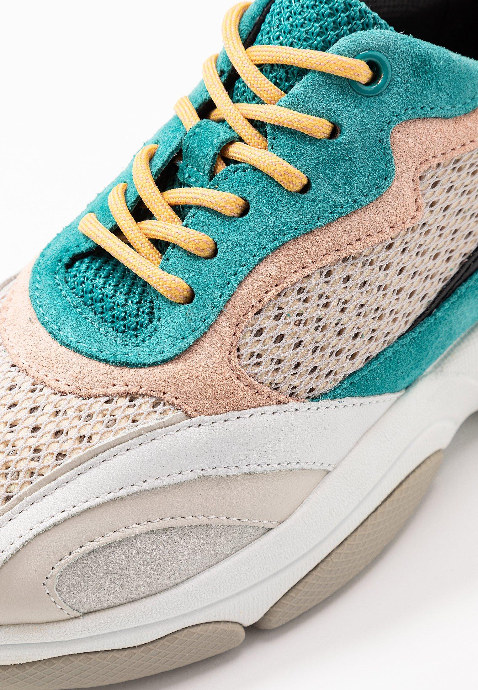 Geox KIRYA - Sneakersy niskie - turquoise/light grey