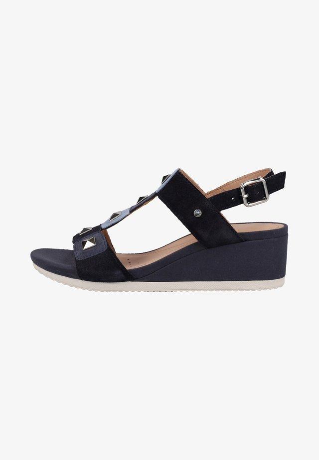 Sandales compensées - navy/blue