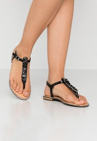 Geox - SOZY PLUS - Sandalias de dedo - black - 0