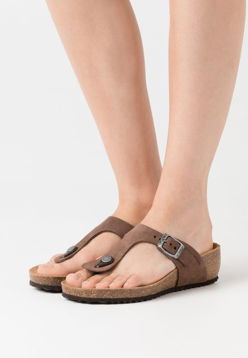 Geox - STHELLAE - Sandalias de dedo - coffee