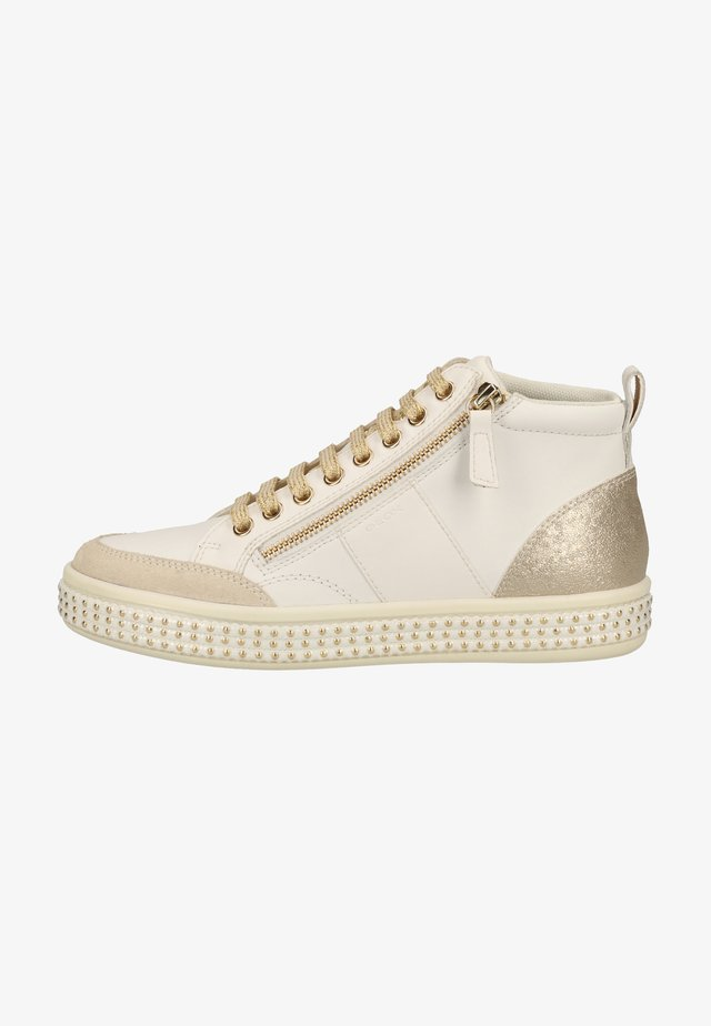 Baskets montantes - white/champagne