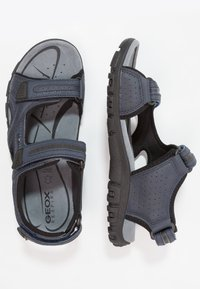 Geox - STRADA - Sandalias de senderismo - navy/dark grey - 1