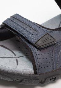 Geox - STRADA - Sandalias de senderismo - navy/dark grey - 5