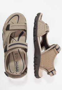 Geox - STRADA - Walking sandals - sand/navy - 1