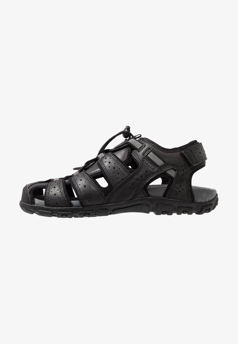 Geox - UOMO STRADA - Walking sandals - black