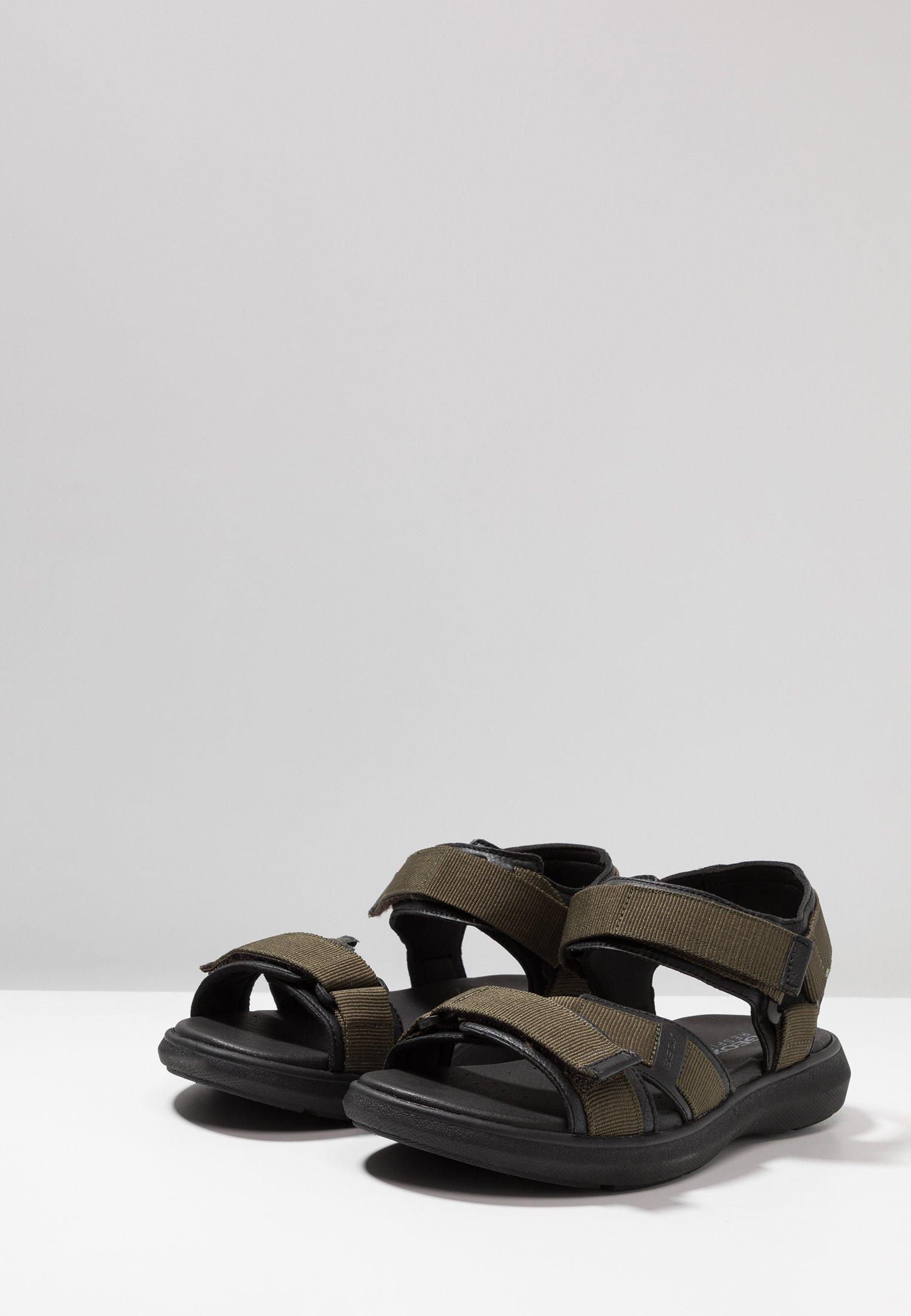 Geox GOINWAY - Sandales de randonnée military/black